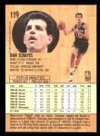 1991 Fleer #119  Danny Schayes  Back Thumbnail
