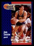 1991 Fleer #221   -  John Stockton League Leader Front Thumbnail