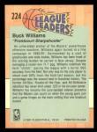 1991 Fleer #224   -  Buck Williams League Leader Back Thumbnail