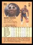 1991 Fleer #283  Orlando Woolridge  Back Thumbnail