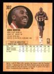 1991 Fleer #307  John Morton  Back Thumbnail