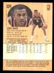 1991 Fleer #309  Steve Smith  Back Thumbnail