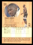 1991 Fleer #331  Stanley Roberts  Back Thumbnail