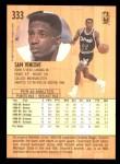1991 Fleer #333  Sam Vincent  Back Thumbnail