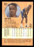 1991 Fleer #352  Spud Webb  Back Thumbnail