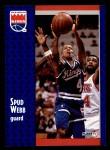 1991 Fleer #352  Spud Webb  Front Thumbnail
