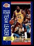 1991 Fleer #384   -  James Worthy Lakers Leaders Front Thumbnail
