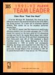 1991 Fleer #385   -  Glen Rice Heat Leaders Back Thumbnail