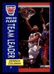 1991 Fleer #388   -  Derrick Coleman Nets Leaders Front Thumbnail