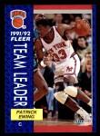 1991 Fleer #389   -  Patrick Ewing Knicks Leaders Front Thumbnail
