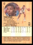 1991 Fleer #17  Muggsy Bogues  Back Thumbnail