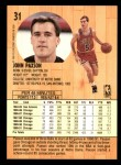 1991 Fleer #31  John Paxson  Back Thumbnail