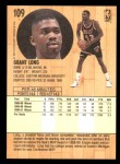 1991 Fleer #109  Grant Long  Back Thumbnail