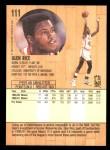 1991 Fleer #111  Glen Rice  Back Thumbnail