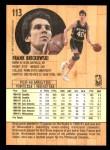 1991 Fleer #113  Frank Brickowski  Back Thumbnail