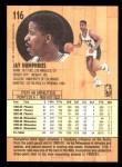 1991 Fleer #116  Jay Humphries  Back Thumbnail