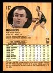 1991 Fleer #117  Fred Roberts  Back Thumbnail