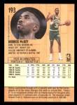 1991 Fleer #193  Derrick McKey  Back Thumbnail