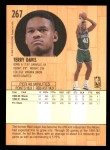 1991 Fleer #267  Terry Davis  Back Thumbnail