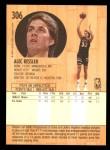 1991 Fleer #306  Alec Kessler  Back Thumbnail