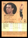 1991 Fleer #314  Larry Krystkowiak  Back Thumbnail