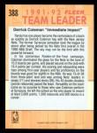 1991 Fleer #388   -  Derrick Coleman Nets Leaders Back Thumbnail