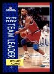 1991 Fleer #398   -  Michael Adams Bullets Leaders Front Thumbnail