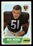 1968 Topps #127  Dick Butkus  Front Thumbnail