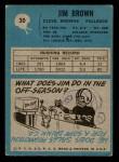 1964 Philadelphia #30  Jim Brown   Back Thumbnail
