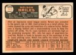 1966 Topps #243  Nelson Briles  Back Thumbnail