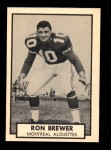 1962 Topps CFL #77  Ron Brewer  Front Thumbnail