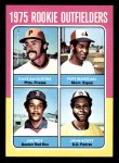 1975 Topps Mini #616   -  Jim Rice / Dave Augustine / Pepe Mangual / John Scott Rookie Outfielders Front Thumbnail