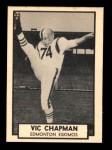 1962 Topps CFL #39  Vic Chapman  Front Thumbnail