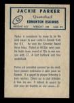 1962 Topps CFL #52  Jackie Parker  Back Thumbnail