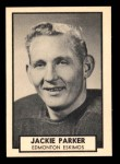 1962 Topps CFL #52  Jackie Parker  Front Thumbnail