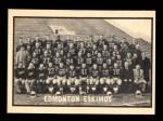 1962 Topps CFL #58   Edmonton Eskimos Team Front Thumbnail