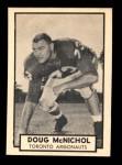 1962 Topps CFL #139  Doug McNichol  Front Thumbnail