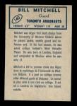 1962 Topps CFL #140  Bill Mitchell  Back Thumbnail