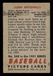 1951 Bowman #243  Johnny Antonelli  Back Thumbnail