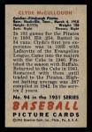 1951 Bowman #94  Clyde McCullough  Back Thumbnail