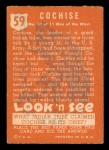 1952 Topps Look 'N See #59  Cochise  Back Thumbnail