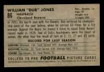 1952 Bowman Small #86  Dub Jones  Back Thumbnail