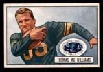 1951 Bowman #58  Tom McWilliams  Front Thumbnail