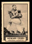 1962 Topps CFL #79  Howard Cissell  Front Thumbnail