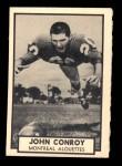 1962 Topps CFL #82  John Conroy  Front Thumbnail