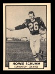1962 Topps CFL #53  Howie Schumm  Front Thumbnail