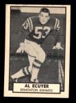 1962 Topps CFL #41  Al Ecuyer  Front Thumbnail