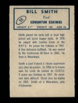 1962 Topps CFL #55  Bill Smith  Back Thumbnail