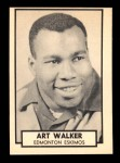 1962 Topps CFL #57  Art Walker  Front Thumbnail