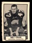 1962 Topps CFL #83  Milt Crain  Front Thumbnail